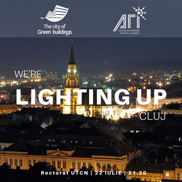 Clujul acaparat de Guerilla Lighting